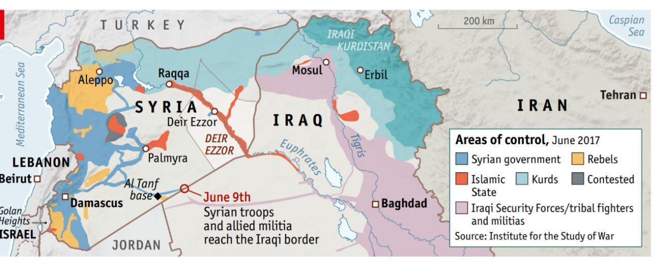 نقشه جنگ با داعش