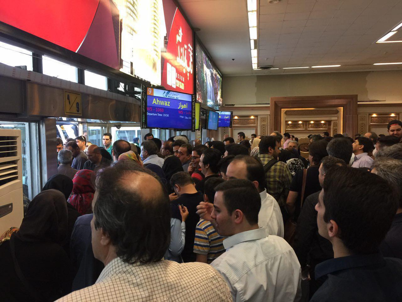 تاخیر در پرواز ماهان تهران مشهد