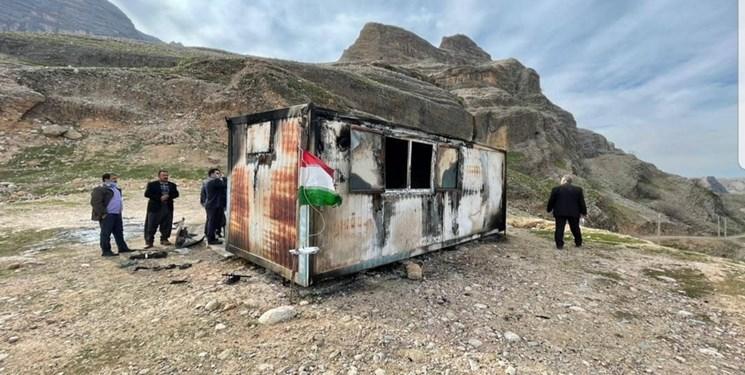 آتش سوزی کانکس معلمان