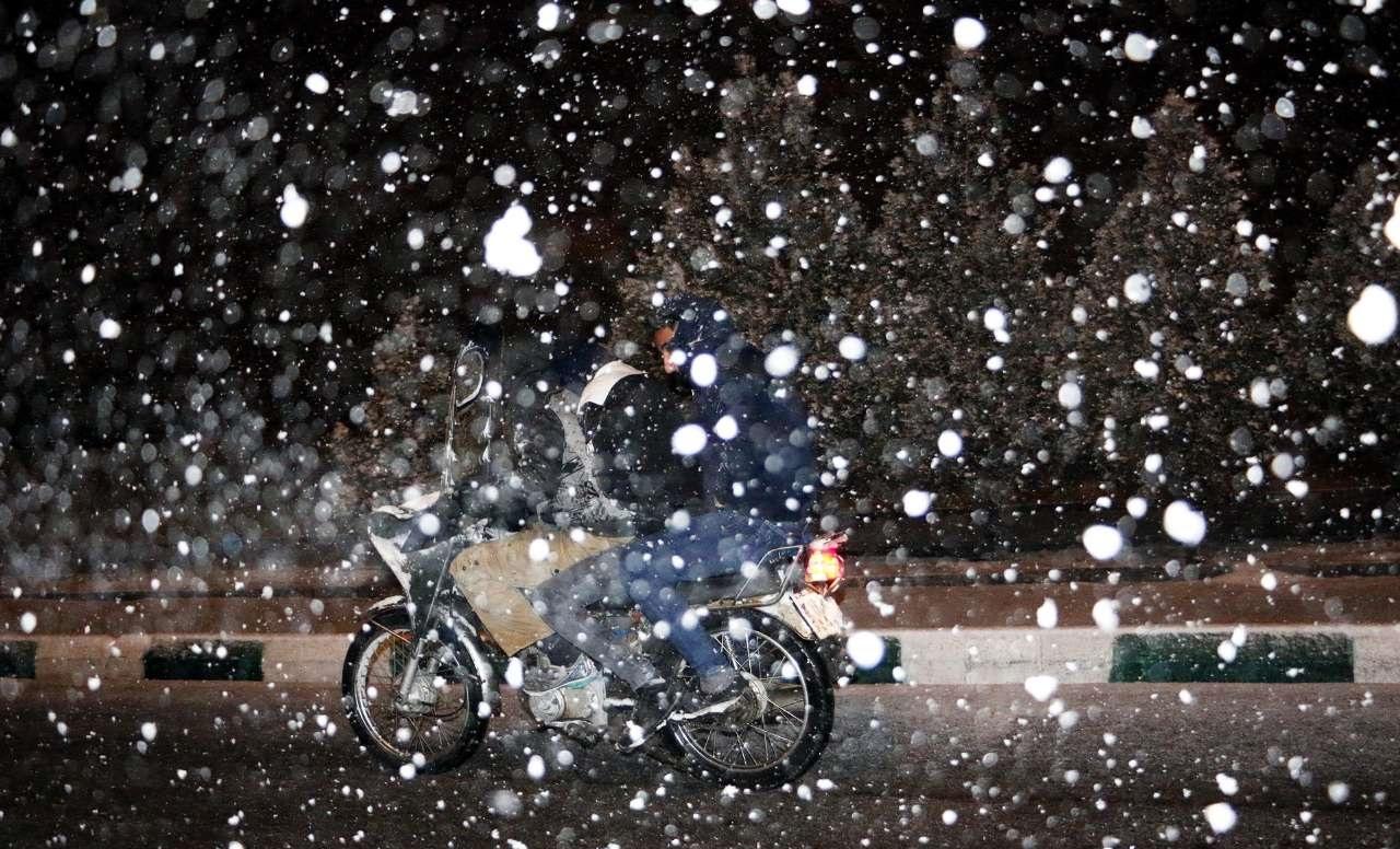 بارش برف زنجان