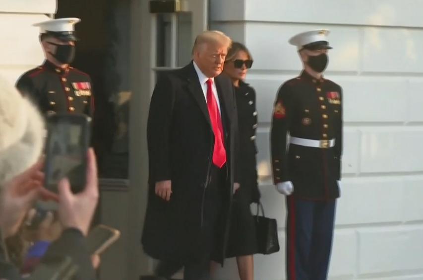 آخرین لباس ملانیا ترامپ