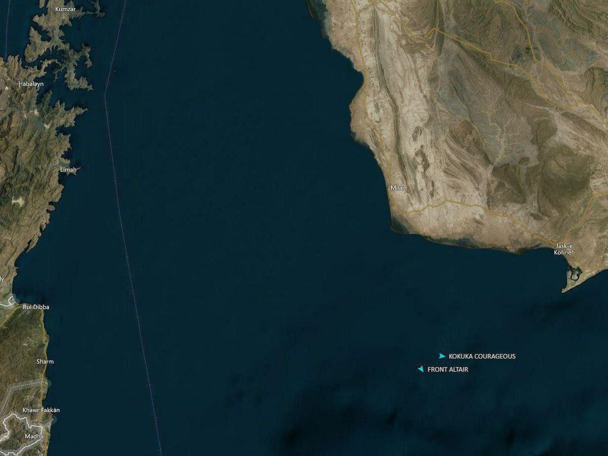 حادثه نفت کش در دریای عمان