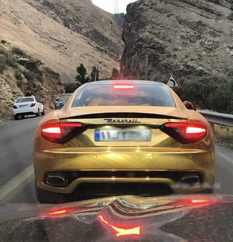 مازاراتی با روکش طلایی در ایران