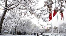 بارش سنگین برف در تبریز +تصاویر