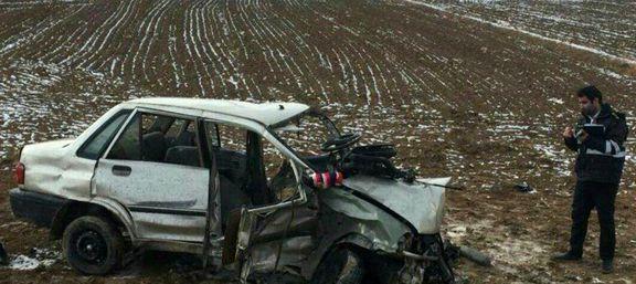 مرگ زوج پراید سوار ۴۸ساعت پس از خرید خودرو +عکس