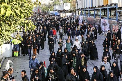 آغاز پیادهروی اربعین حسینی در تهران +عکس