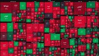 نقشه بورس امروز بر اساس ارزش معاملات/ شروع به کار بورس با ۳۰۰نماد قرمزپوش