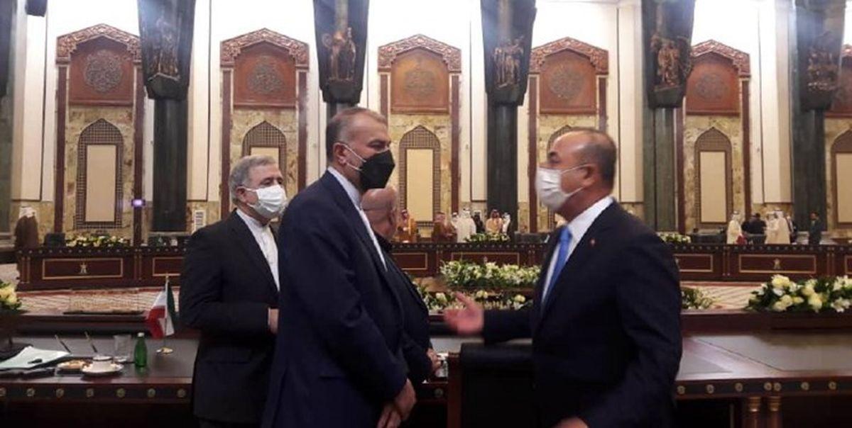 گفت و گوی امیرعبداللهیان و همتای ترکیه ای در حاشیه نشست بغداد