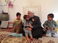 بازدید روحانی از روستای زلزلهزده