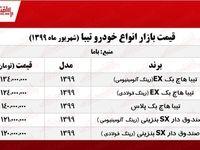قیمت خودرو تیبا هاچبک (۱۳۹۹/۶/۳۰ )