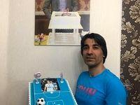 کیک تولد وحید شمسایی +عکس