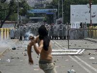 درگیری در مرز ونزوئلا شدت گرفت +تصاویر