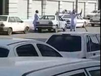 فیلم حمله مسلحانه امروز به بانک ملی زاهدان