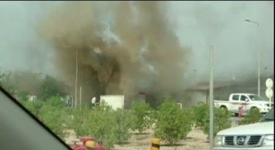 آتش سوزی در فاز۱۲پارس جنوبی +فیلم