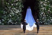 لباس عروس ۲۰۰هزار پوندی مگان مارکل +فیلم