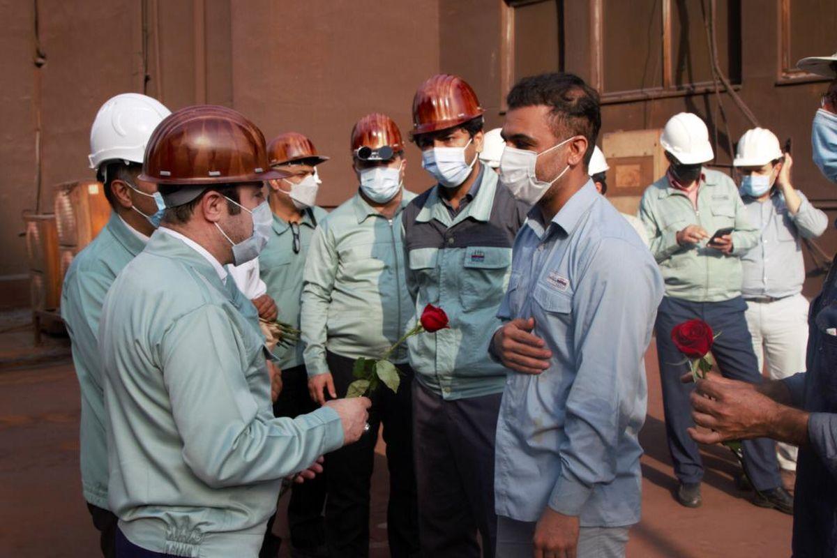 توجه به معیشت کارکنان از اولویت های فولاد هرمزگان است