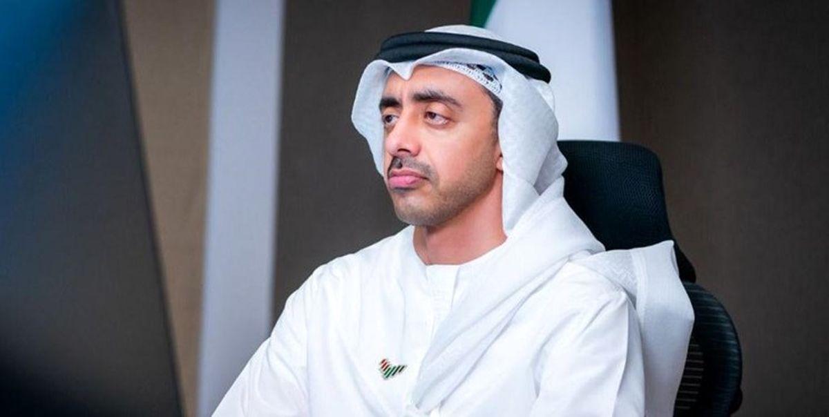 گفت وگوی تلفنی وزیر خارجه امارات با امیرعبداللهیان