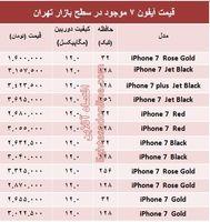 مظنه قیمت آیفون۷ در ایران؟ +جدول