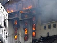 آتش سوزی هتل دوران ملکه ویکتوریا در شهر ایستبورن انگلیس
