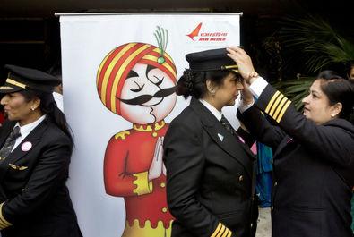 زنان خلبان شرکت هوایی ایرایندیا