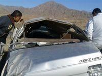 سه کشته در واژگونی خودرو در کرمان +عکس