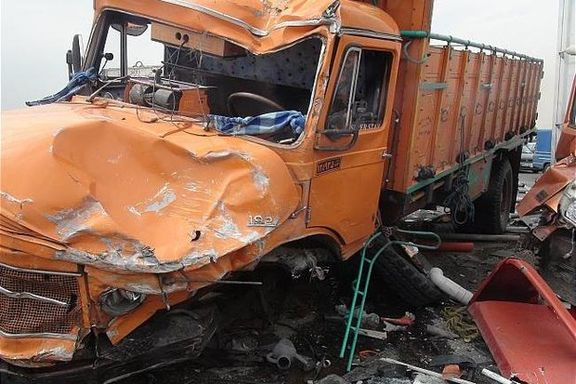 سقوط مرگبار کامیون از پل در کرمان