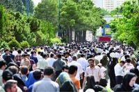 جمعیت شهر تهران ۶.۶درصد افزایش یافت