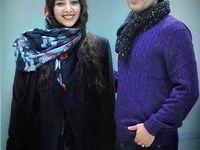 اشکان خطیبی و همسرش در اکران مردمی لاتاری +عکس