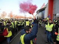 درگیری شدید جلیقه زردها با پلیس فرانسه +فیلم