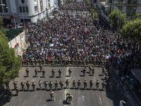 تظاهرات در شیلی +تصاویر