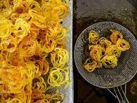 کارگاه پخت زولبیا و بامیه در بجنورد +تصاویر