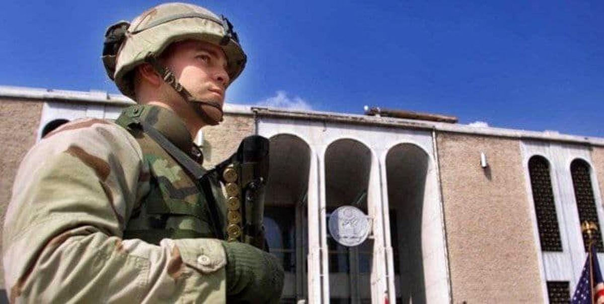 پرچم سفارت آمریکا در کابل پایین کشیده شد