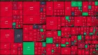 نقشه بورس امروز بر اساس ارزش معاملات/ افت ۴۴هزار واحدی شاخص در دقایق ابتدایی بازار