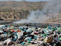 کوه 60متری زباله در آرادکوه