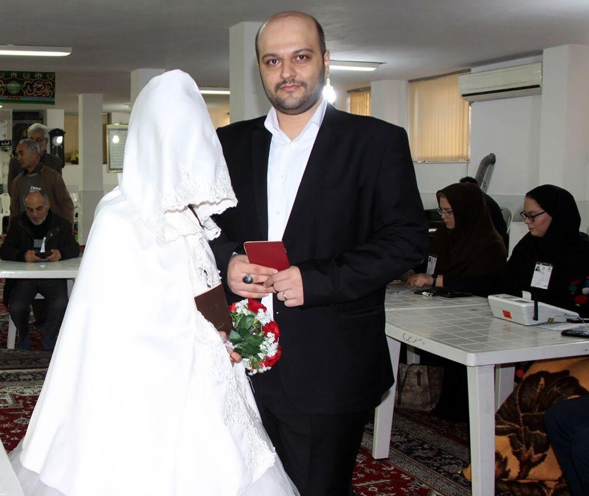 ثبتنام خانوادگی عروس و داماد برای ریاست جمهوری + عکس