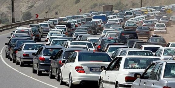 ترافیک سنگین در جاده قدیم بومهن