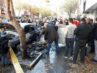 انفجار بساط یک دستفروش مواد محترقه در تهران +عکس