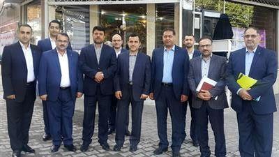 بازدید مدیران ارشد بانک قرض الحسنه مهر ایران از مدیریت شعب گلستان