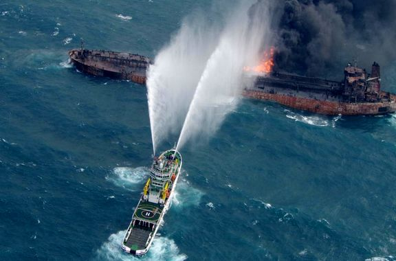 درخواست ایران از سه کشور برای کمک به نفتکش سانچی