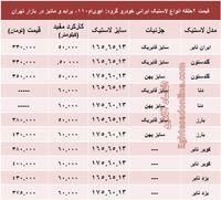 قیمت لاستیک ایرانی پراید در بازار +جدول