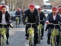 دوچرخه سواری شهرداران ایران در تهران +تصاویر