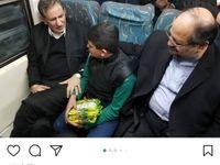 جهانگیری با مترو از البرز بازگشت +عکس
