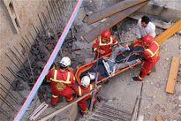سقوط کارگر ساختمانی از طبقه هفتم