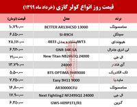 قیمت جدید کولر گازی (۹۹/۳/۱۹ )