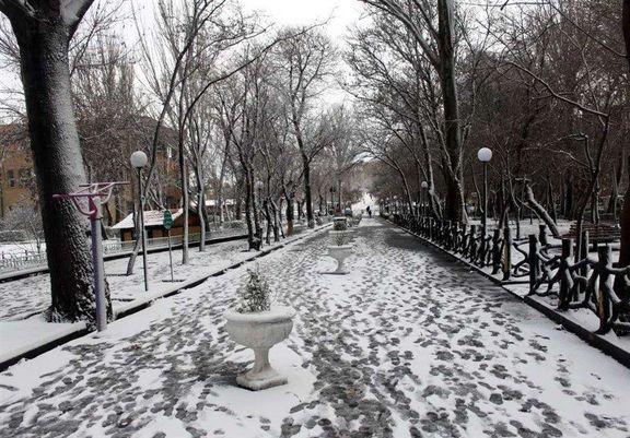 بارش برف در ارتفاعات البرز و زاگرس