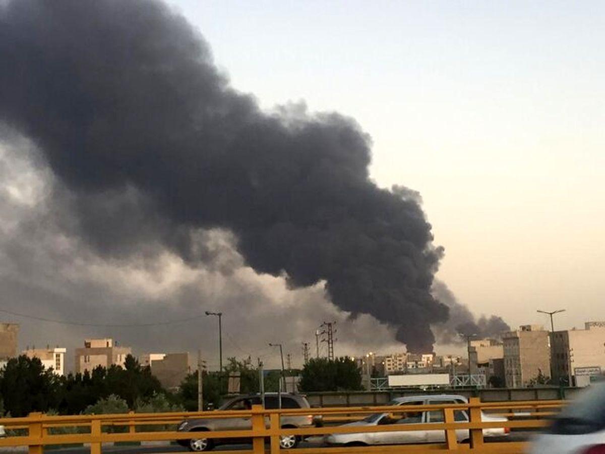 آتش سوزی مخزن پالایشگاه تهران مهار شد