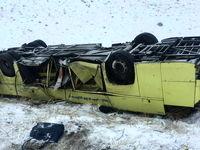 واژگونی اتوبوس در محور قاین_گناباد ۱۵ مجروح بر جای گذاشت