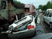 راننده پراید خوابید، ۵ نفر در جاده پونل کشته شدند