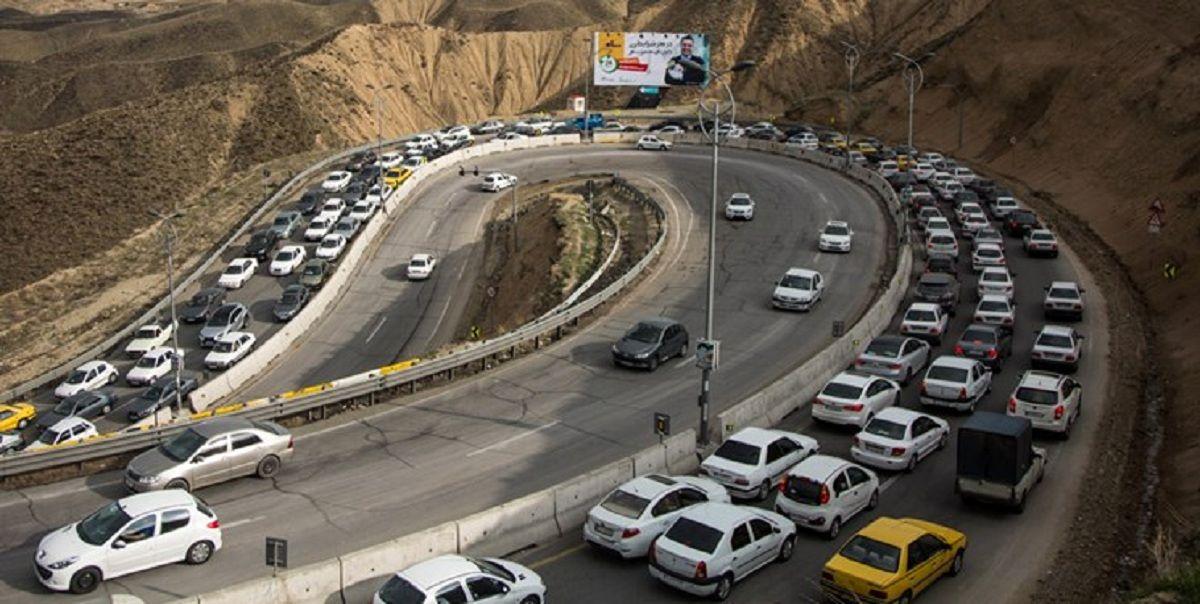 ترافیک سنگین محورهای تهران به فیروزکوه، چالوس، هراز، فشم و بومهن