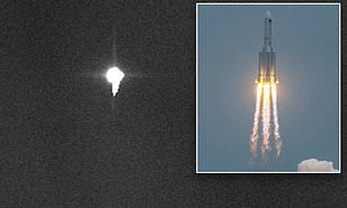اوین عکس از موشک چینی در حال نزدیک شدن به زمین